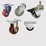 Колесные опоры мебельные поворотные, поворотные с тормозом и неповоротные. Крепление платформенное, болтовое и под болт. Диаметр роликов от 15 мм до 50 мм.