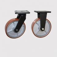 Колесные опоры большегрузные, поворотные и неповоротные. Полиуретановый контактный слой. Грузоподъемность 1000 кг.