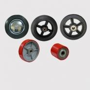 Колеса без кронштейнов: промышленные, большегрузные, протекторные, для гидравлических тележек (рокл)