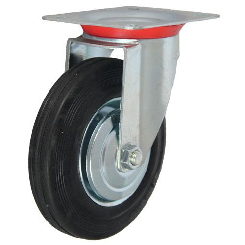Фото - Колесо промышленное поворотное - поворотная колесная опора, платформенное крепление SC 93+ Европейский стандарт