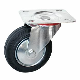 Фото - Колесо промышленное поворотное - поворотная колесная опора, платформенное крепление SC 80+ Европейский стандарт