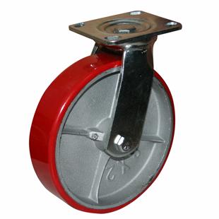 Фото - Колесо большегрузное поворотное - поворотная колесная опора, полиуретановый контактный слой, платформенное крепление SCp 55
