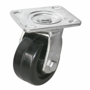 Фото - Колесо большегрузное термостойкое, поворотное-поворотная колесная опора, феноловый ролик, платформенное крепление SCz 55