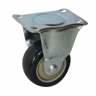 Фото - Колесо аппаратное неповоротное - неповоротная колесная опора, платформенное крепление, полиуретановый контактный слой FCm 46