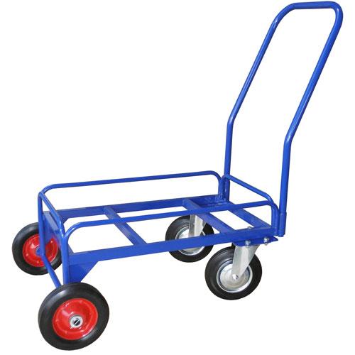 Фото - Тележка дворника поворотная ТДП Ø200/200мм колеса с литой резиной