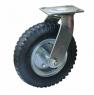 Колесо пневматическое поворотное - поворотная колесная опора, пневматическая, платформенное крепление PRS 63