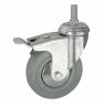 Колесо аппаратное поворотное с тормозом - поворотная колесная опора с тормозом, болтовое крепление SCtgb 30+