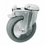 Колесо медицинское аппаратное поворотное с тормозом - поворотная колесная опора  с тормозом, крепление под болт  (SChgb 55-1)