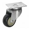 Колесо аппаратное поворотное - поворотная колесная опора, платформенное крепление, полиуретановый контактный слой SCm 42