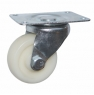 Колесо аппаратное поворотное - поворотная колесная опора, цельнолитое, полиэтилен, платформенное крепление SCpp 25