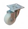 Колесо аппаратное поворотное - поворотная колесная опора, нейлон, платформенное крепление SCn 25