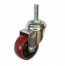 Колесо аппаратное поворотное - поворотная колесная опора, полиуретан, болтовое крепление SCtr 25