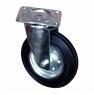 Колесо промышленное усиленное поворотное - поворотная колесная опора усиленная, платформенное крепление SRC 80+