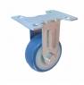 Колесо аппартное неповоротное - неповоротная колесная опора, ПВХ (синий), платформенное крепление FCv 25+