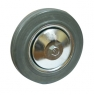Колесо промышленное С92f, шинка - серая полуэластичная резина, обод-штампованная листовая сталь, оцинкован, защитные кожуха. Допустимая нагрузка 50 кг.