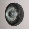 Колесо промышленное усиленное RС97, шинка - черная полуэластичная резина, обод-штампованная листовая сталь, оцинкован. Допустимая нагрузка 100 кг.