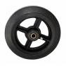 Колесо большегрузное D80, чугунный обод, литая черная резина. Допустимая нагрузка 270 кг.
