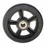 Колесо большегрузное DL90, чугунный обод, литая черная резина. Допустимая нагрузка 850 кг.