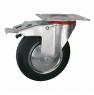 Поворотная колесная опора с тормозом, платформенное крепление SCb 80+ Европейский стандарт