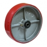 Колесо большегрузное P54, стальной литой обод, полиуретановый контактный слой. Допустимая нагрузка 280 кг.