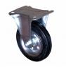 Колесо промышленное усиленное неповоротное – неповоротная колесная опора усиленная, платформенное крепление FRC 63+