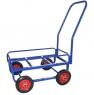 Тележка для дворника неповоротная ТДН на колесах с литой резиной диаметром 200 мм.