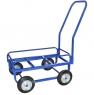 Тележка для дворника неповоротная ТДН на промышленных колесах диаметром 200 мм.