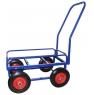 Тележка для дворника неповоротная ТДН на колесах с литой резиной диаметром 250 мм.