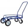 Тележка для дворника неповоротная ТДП на промышленных литых колесах диаметром 160 мм.