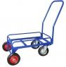 Тележка для дворника неповоротная ТДП на промышленных поворотных колесах диаметром 200 мм и литых колесах диаметром 200 мм.