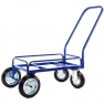 Тележка для дворника неповоротная ТДП на промышленных поворотных колесах диаметром 200 мм и промышленных литых колесах диаметром 200 мм.