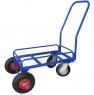 Тележка для дворника неповоротная ТДП на промышленныхповоротных колесах диаметром 200 мм и пневматических колесах диаметром 250 мм.