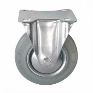 Колесо промышленное неповоротное - Неповоротная колесная опора, платформенное крепление FC 80f+ Европейский стандарт