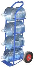 Тележка для баллонов с водой, колеса пневматические (ВД 4)
