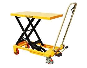 Тележка-стол с гидравлическим приводом подъема TF 15. Грузоподъемность 150 кг. Максимальная высота подъема 750 мм. Размер платформы 700х450 мм