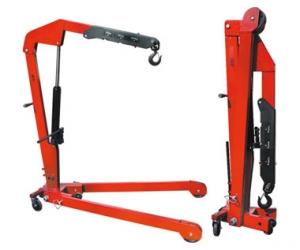Гидравлический передвижной кран NDJ10. Грузоподъемность 1000 кг. Предназначен для подъема, вывешивания и перемещения грузов.