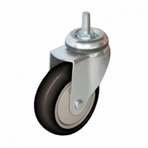 Колесо аппаратное поворотное - поворотная колесная опора, болтовое крепление, полиуретановый контактный слой SCtm 42