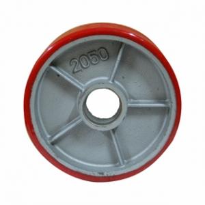 Колесо для гидравлической тележки, полиуретановый контактный слой, стальной обод P 80+