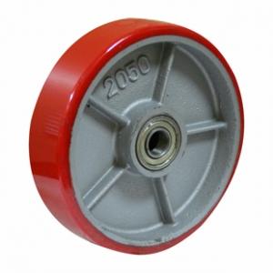 Колесо для гидравлической тележки, полиуретановый контактный слой, стальной обод P 80+1