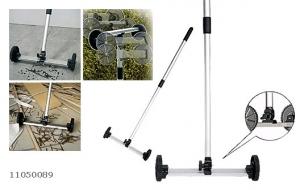 Магнитный искатель с телескопической ручкой 680-1100 мм, на колесах. Предназначен для сбора металлических изделий, с любых даже труднодоступных, но относительно ровных поверхностей.