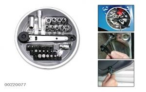 Набор инструмента универсальный на магнитном подносе - 35 предметов.
