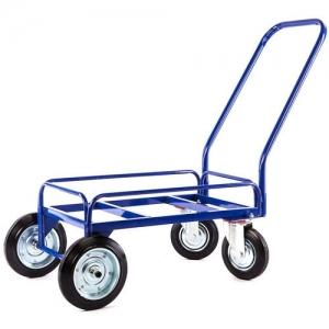 Тележка для дворника неповоротная ТДП на промышленных литых колесах диаметром 200/250 мм.