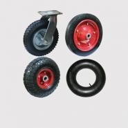 Колеса пневматические, колеса на литой резине и камеры. Крепление платформенное и на ось.