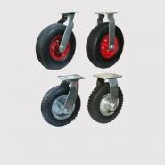 Колесные опоры пневматические, поворотные и неповоротные. Платформенное крепление.
