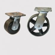 Колесные опоры болшегрузные, колесо цельнолитое из высокоуглеродистой стали. Платформенное крепление.