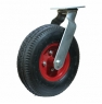 Колесо пневматическое поворотное - поворотная колесная опора, пневматическая, платформенное крепление   PRS 90