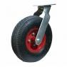 Колесо пневматическое поворотное - поворотная колесная опора, пневматическая, платформенное крепление PRS 100