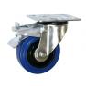 Колесо усиленное поворотное с тормозом – поворотная колесная опора с тормозом, усиленная, платформенное крепление SRCLb 93+