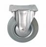 Колесо промышленное неповоротное - Неповоротная колесная опора, платформенное крепление FC 46f+ Европейский стандарт