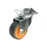 Поворотная колесная опора, платформенное крепление, термопластичная серая резина SCk 25